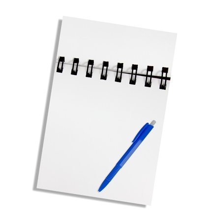 Note paper and pen on a white background Stock Photo - 15459946
