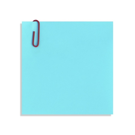 The blue paper notes on a white background
