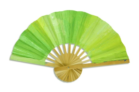 Green  spanish fan isolatd on white background. Stock Photo