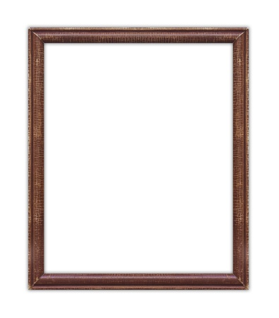 The old wooden frame on white background Stock Photo