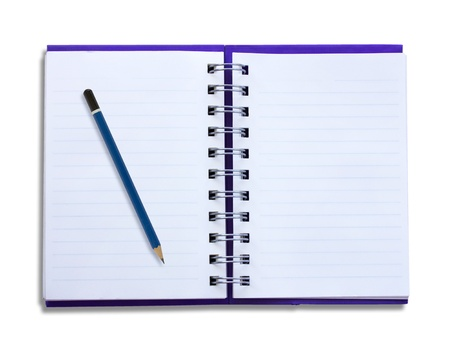 Notepad and pencil on a white background. Stock Photo - 16852844