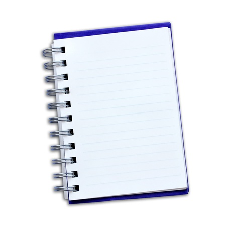 Notepad  on a white background  photo