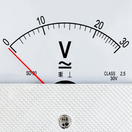 Voltmeter isolated on a white background
