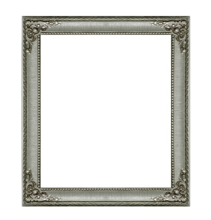 Golden frame isolated on white background photo