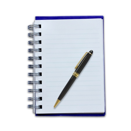 Notepad and pencil on a white background. Stock Photo - 18199122