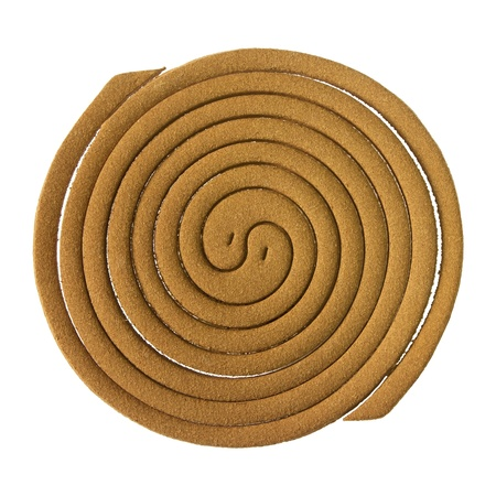 mosquito repellent incense coil isolated on white background photo