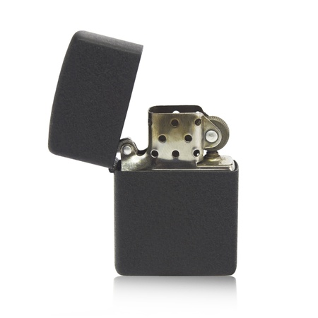 Metal lighter isolated on white background, Black color Stock Photo - 18674896