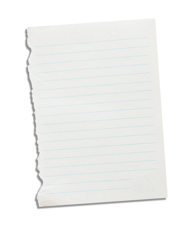 Note paper on a white background Stock Photo - 19336619