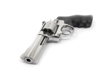 Revolvers isolated on white background photo
