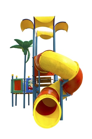 Playground for children on white background