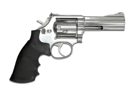 pistolas: Rev?lveres aislados sobre fondo blanco
