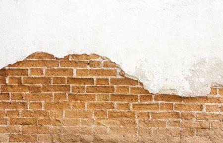 Molder brick wall