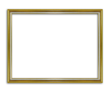 gild: Antique gold frame isolated on the white background