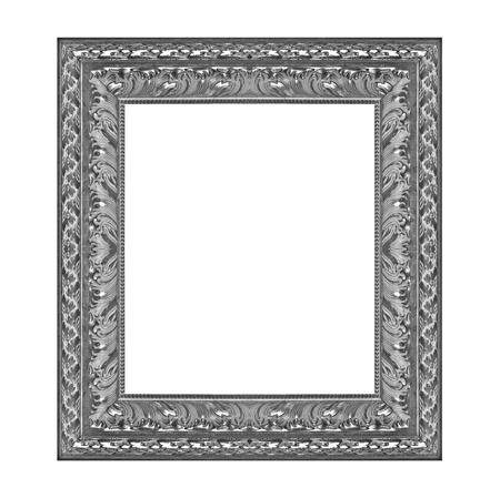 Antique frame isolated on the white background photo