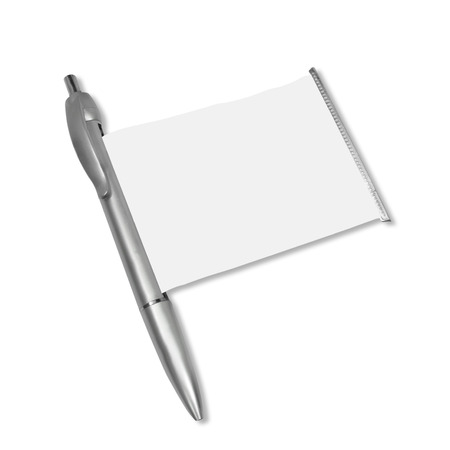 metalline: pen isolated on white background
