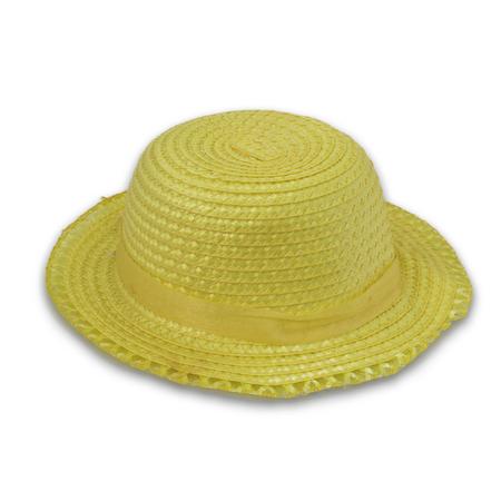 straw hat: Pretty straw hat  on white