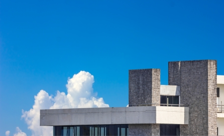 terrace building on sky background Stock Photo - 24103633