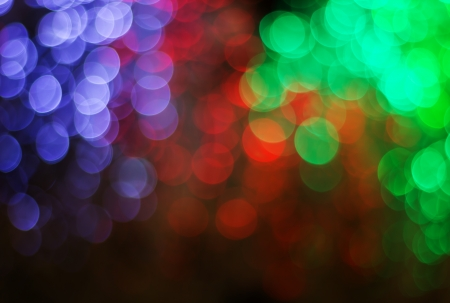 Lights on  bokeh as background photo
