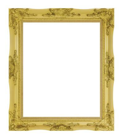 cadre antique: Antique cadre isol� sur le fond blanc