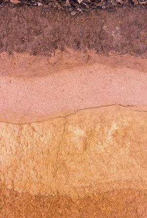 Layer of soil underground Stock Photo