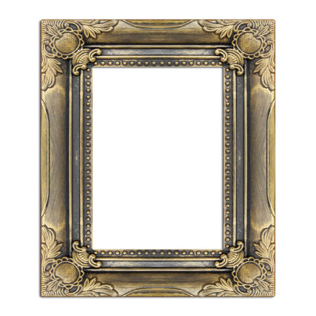 antique frame isolated  photo