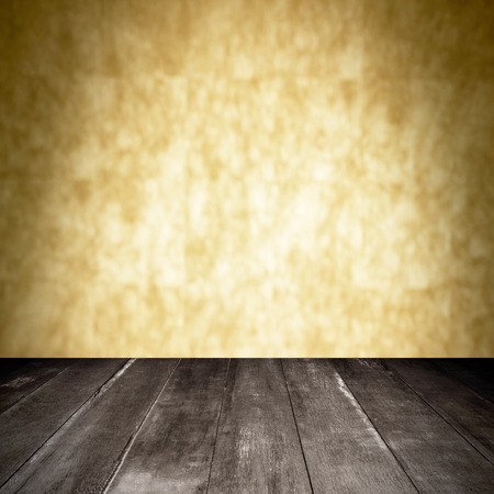 wooden and orange wall blur background photo