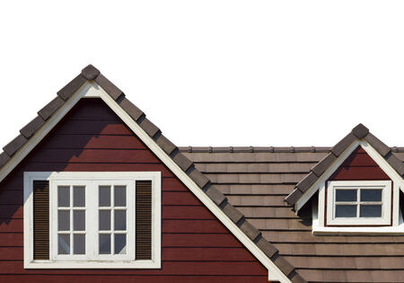 dormitories: gable of the house isolated on white background