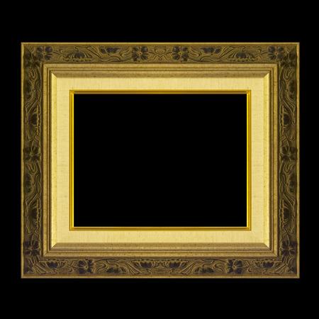 cadre antique: Cadre antique isol� sur fond noir