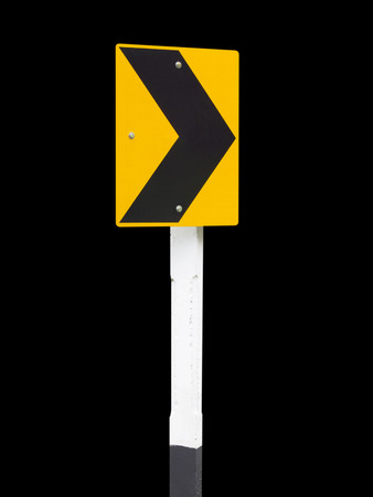 curvaceous: Traffic Signs on black background, Arrow traffic sign