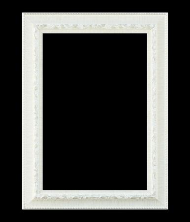 White  frame isolated on black background Stock Photo