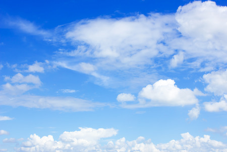 clear blue sky: clouds in the blue sky