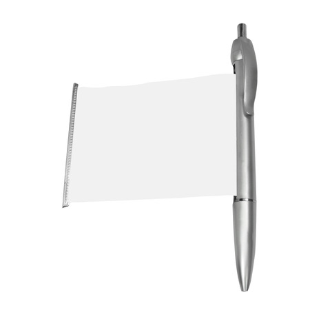 metalline: pen isolated on white background