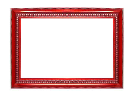 golden border: Red frame isolated on white background