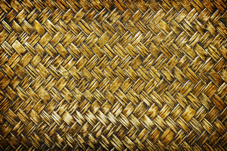 close up woven bamboo pattern, Weaving pattern background