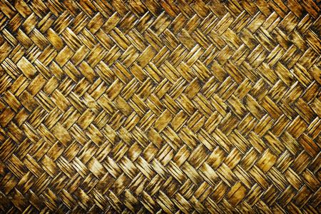 treadplate: close up woven bamboo pattern, Weaving pattern background
