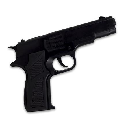 Black semi-automatic gun isolated on white background photo
