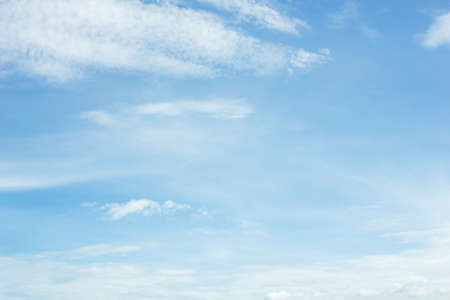 nimbi: clouds in the blue sky background. Stock Photo