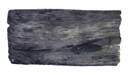 weathered wood: Old wooden planks isolated white background.