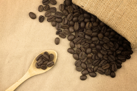 Coffee beans background, Fresh coffee beans Stock Photo