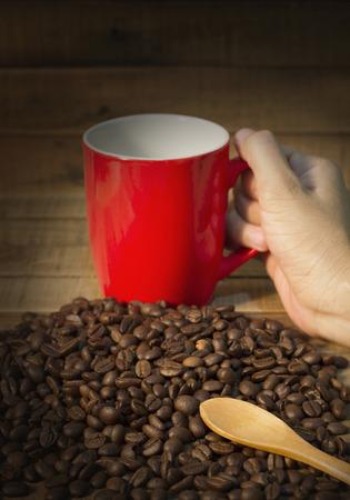 coffeetree: Coffee beans background, Fresh coffee beans.