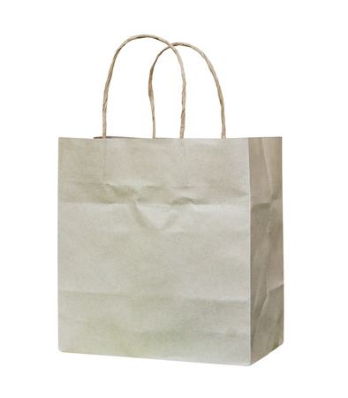 paper bags: Paper bags isolated on white background. Stock Photo