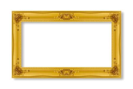 goldenen Rahmen auf weißem Hintergrund.