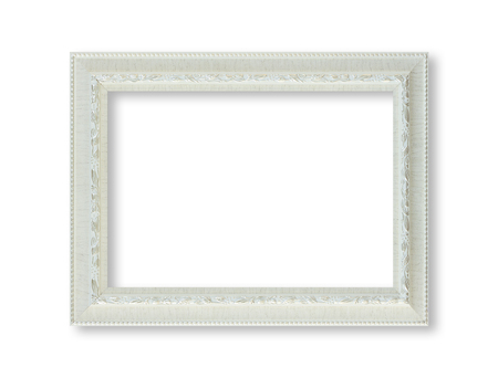 white frame isolted on white background. Stock Photo