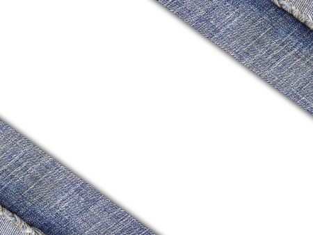 Background from a jeans fabric on white.