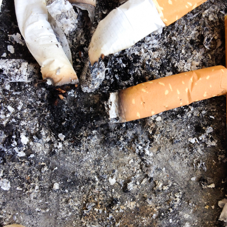 cheroot: Close up cigarette butts for background