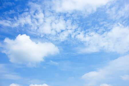 clouds in the blue sky background. Stock Photo