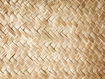 close up woven bamboo pattern, Weaving pattern background