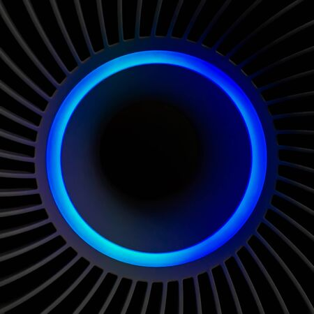 Abstract blue light ring, Blue light circle image on a black background.
