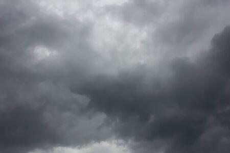 Clouds before rain, dark storm clouds.