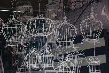 birds on a wire: classic decorative bird cage